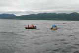 Пытавшегося доплыть до Японии на лодке, русские взяли на борт корабля